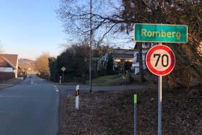 Bald gilt Tempo 50 in Romberg und Hillesmühle