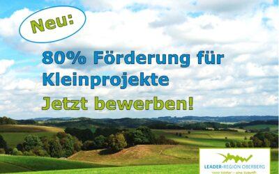 Projektaufruf für Kleinprojekte in der LEADER-Region Oberberg