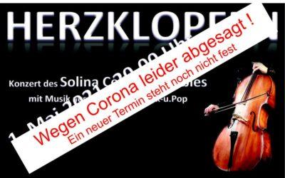Cello-Konzert wegen Corona leider abgesagt
