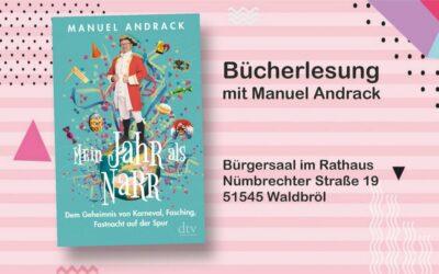Bücherlesung mit Manuel Andrack am 20.11.2021